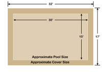 15' x 30' Rectangle Loop-Loc II Tan Super Mesh In-Ground Pool Safety Cover
