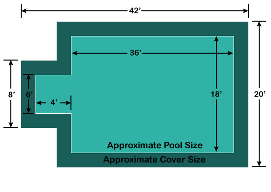 18 X 36 Rectangle With 4 X 6 Center End Step Loop Loc
