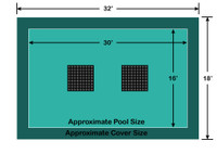 16' x 30' Rectangle Ultra-Loc III Solid with Drain Panels In-Ground Pool Safety Cover