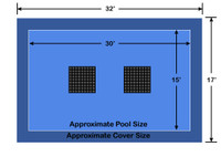 15' x 30' Rectangle Ultra-Loc III Solid Blue with Drain Panels In-Ground Pool Safety Cover