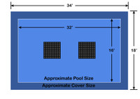 16' x 32' Rectangle Ultra-Loc III Solid Blue with Drain Panels In-Ground Pool Safety Cover