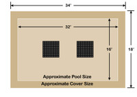 16' x 32' Rectangle Ultra-Loc III Solid Tan with Drain Panels In-Ground Pool Safety Cover