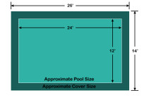 12' x 24' Rectangle Ultra-Loc III Solid Green In-Ground Pool Safety Cover