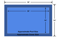 16' x 36' Rectangle Ultra-Loc III Solid Blue In-Ground Pool Safety Cover