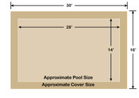 14' x 28' Rectangle Ultra-Loc III Solid Tan In-Ground Pool Safety Cover