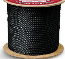 3 Strand Nylon Black