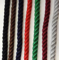 3 strand cotton solid colors 1/2""