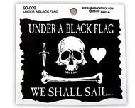 Under A Black Flag Sticker