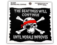 The Beatings Will Continue Sticker