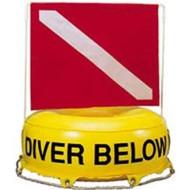 Diver Below Inner Tube Float