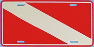 Dive Flag License Plate - Embossed