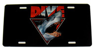 Dive Shark License Plate