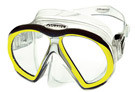 Atomic Aquatics Sub Frame Mask - Clear Skirt w/ Yellow