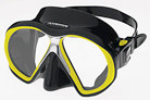 Atomic Aquatics Sub Frame Mask - Black Skirt w/ Yellow