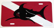 Shark and Dive Flag License Plate
