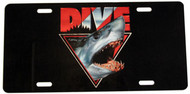 Dive Shark License Plate 1