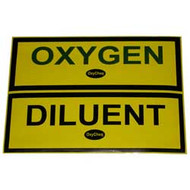 Oxygen and Diluent Sticker
