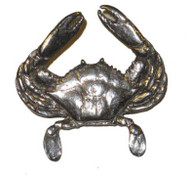 Blue Claw Crab Pin - Pewter