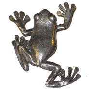 Tree Frog Pin - Pewter