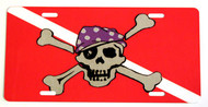 Pirate Dive Flag License Plate