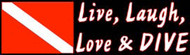 Live, Laugh, Love & Dive Sticker