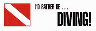I'd Rather Be Diving Sticker 1