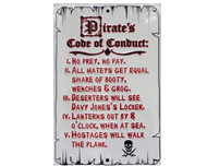 Pirates Code Metal Sign