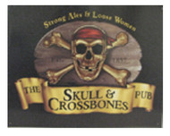 Skull and Crossbones Pub Metal Sign
