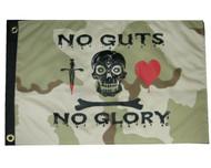 No Guts No Glory Camo Pirate Flag