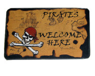 Pirates Welcome Door Mat