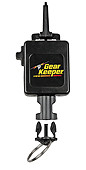 Flashlight Gear Keeper Retractor - Locking - Snap Clip