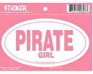 Pirate Girl Oval Sticker