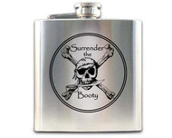 Pirate Hip Flask - Surrender the Booty 1