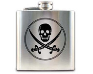 Pirate Hip Flask - Jack Rackham