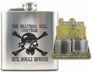 Pirate Hip Flask - The Beatings Will Continue