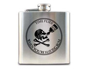 Pirate Hip Flask - Time Flies When You Are Having Rum