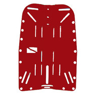 Hog Backplate Aluminum - Red