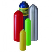 80 Cubic Foot Luxfer Cylinder - White Finish