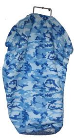 Nylon Catch Bag with Mesh Bottom - Blue Camo
