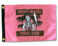 """Wicked Wench's Pirate Crew Flag - 12"""" x 18"""""""