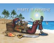 "Flip Flops Pirate in Paradise Flag - 12"" x 18"""