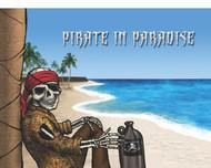 """Rum Pirate in Paradise Flag - 12"""" x 18"""""""