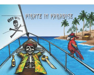 """Off Duty Pirate in Paradise Flag - 12"""" x 18"""""""
