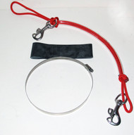 NESS Stage Bottle Rigging Systems - Red - Butterfly Bolt Snap For 40's