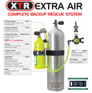 XTR Extra Air Complete Backup Rescue System - 13 cuft cylinder