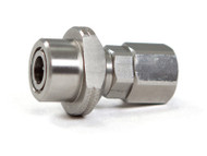 Rebuildable SS Paintball Connector with Check Valve