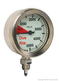 Dive Rite Pressure Gauge - Bare