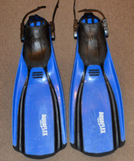 Used Genesis Aquaflex Fins Blue - Regular