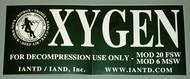 IANTD Oxygen Sticker