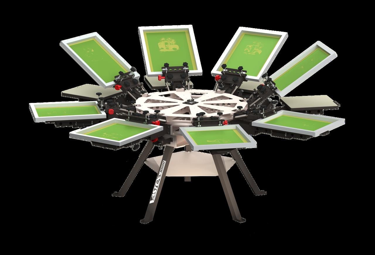 Vastex V-1000 Floor Standing Screen Printing Press for t
